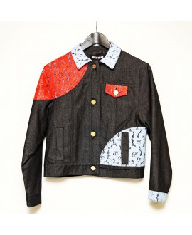 Джинсовая куртка House of Holland с кружевом