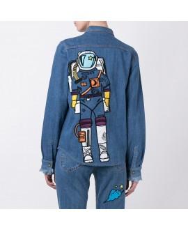 Рубашка House of Holland x Lee с космонавтом