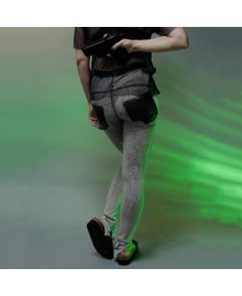 Джинсы Jena.Theo 'Arc' с чёрными кожаными карманами