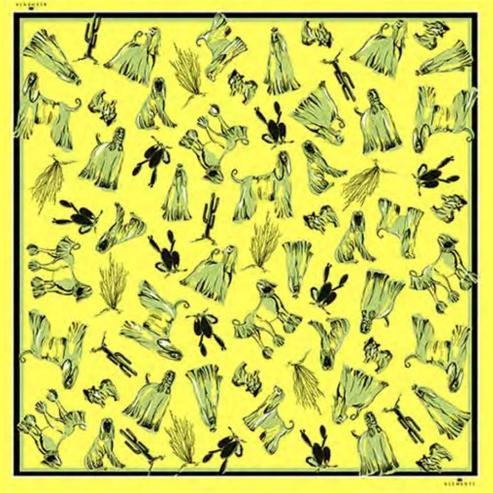 Платок Klements «Афганская борзая», 90x90, шелк
