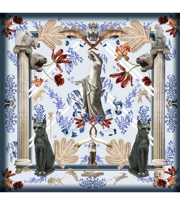 Платок Klements x British Museum, 140x140, шелк