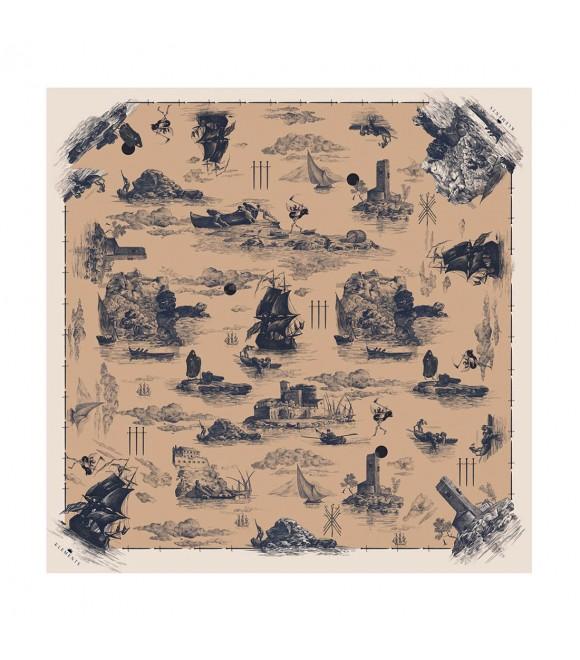 Платок Klements «Обречённый рейс», 90х90, шелк