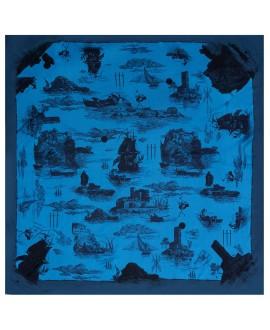 Платок Klements «Обреченный рейс. Океан», 140x140, шелк