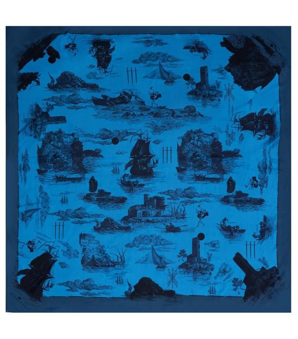 Платок Klements «Обреченный рейс. Океан», 140 x 140, шелк