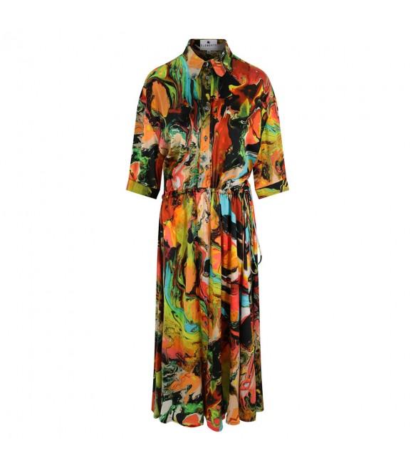 Платье Klements «Эскапизм» с принтом «Пластилин»