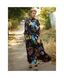 Платье Klements «Эскапизм» с принтом «Готические цветы»