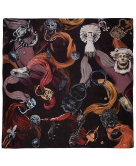 Платок Klements «Фишпул», 140x140, шелк