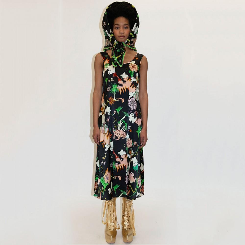 Платье Klements 'Fleet' с узором 'Watchtower' - Фото 2