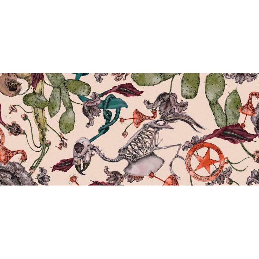 Платок Klements «Фрики» розовый, 140x140, кашемир