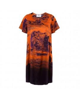 Платье Klements «Frieda» с принтом «Обречённый рейс» (НА ЗАКАЗ)