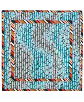 Платок Klements «Сокровище», 140x140, шелк