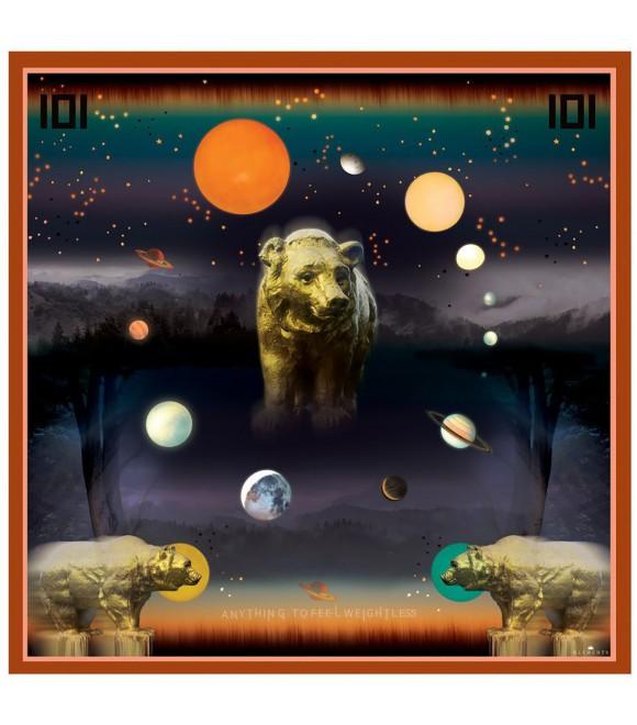 Платок Klements «Золотой медведь», 140x140, шелк