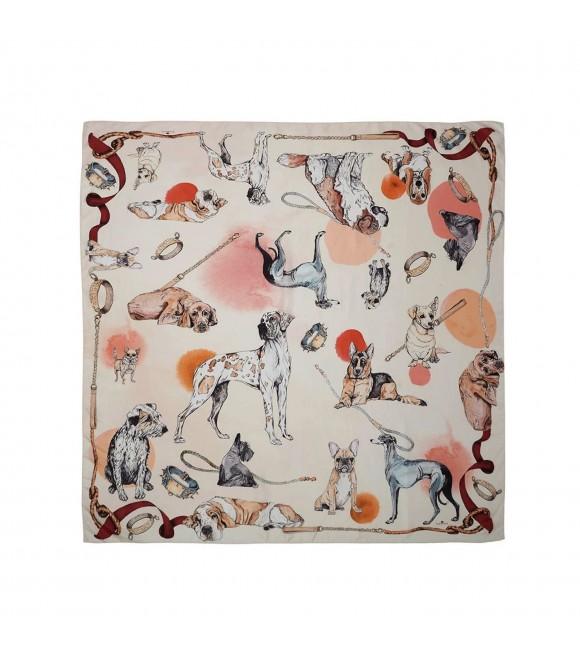 Платок Klements «Хороший мальчик», 90x90, шелк