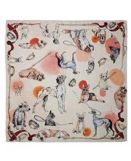 Платок Klements «Хороший мальчик», 140x140, шелк и хлопок