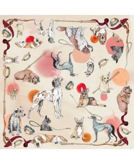 Платок Klements «Хороший мальчик», 140x140, шелк