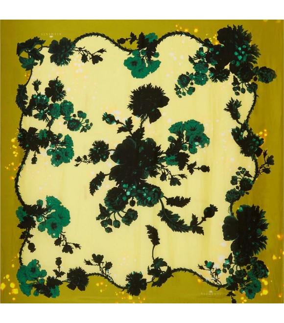 Платок Klements «Готические цветы» охра, 140x140, кашемир