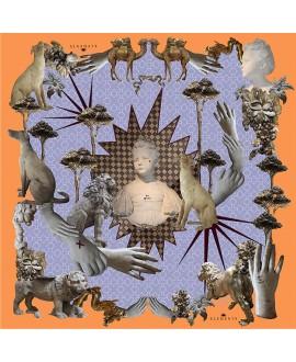 Платок Klements «Стражи защиты», 140x140, шёлковый шифон