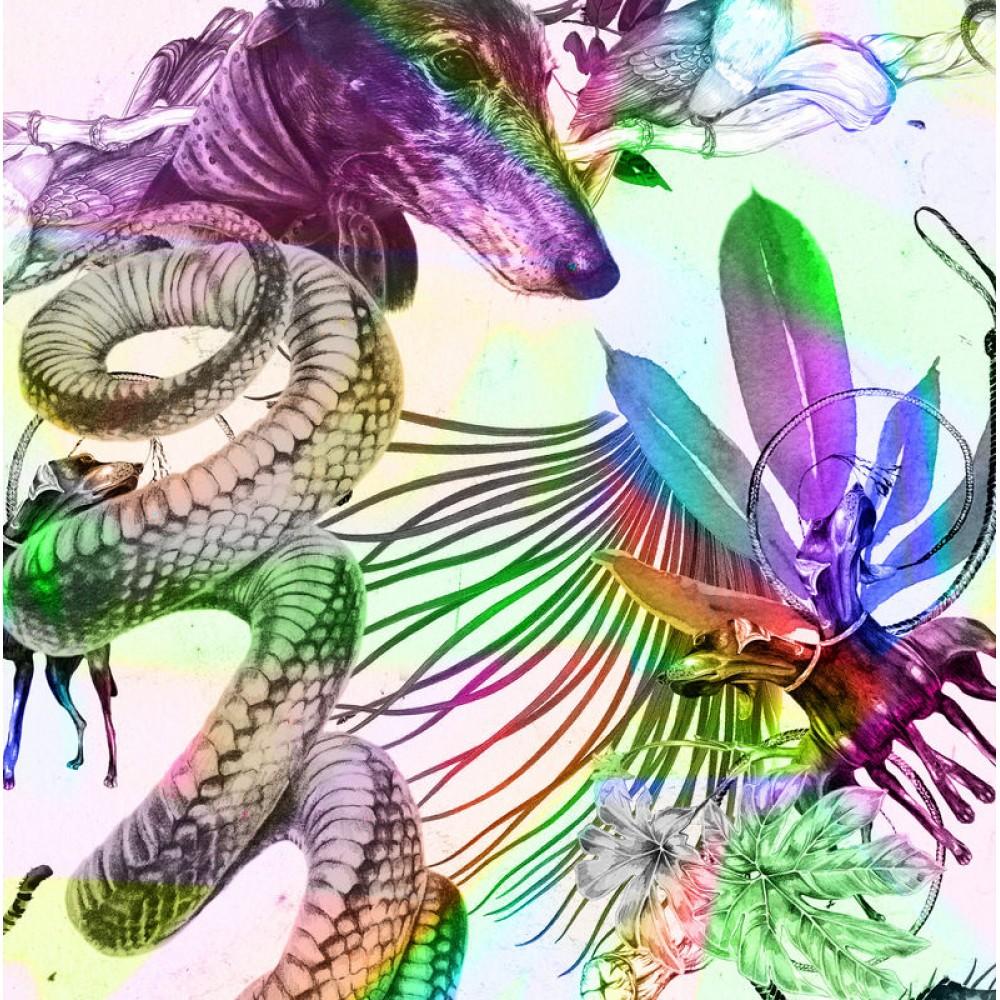 Платок Klements «Гордость джунглей», 140 x 140, шелковый шифон - Фото 2