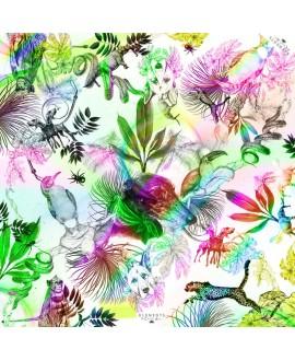 Платок Klements «Гордость джунглей», 140 x 140, шелковый шифон