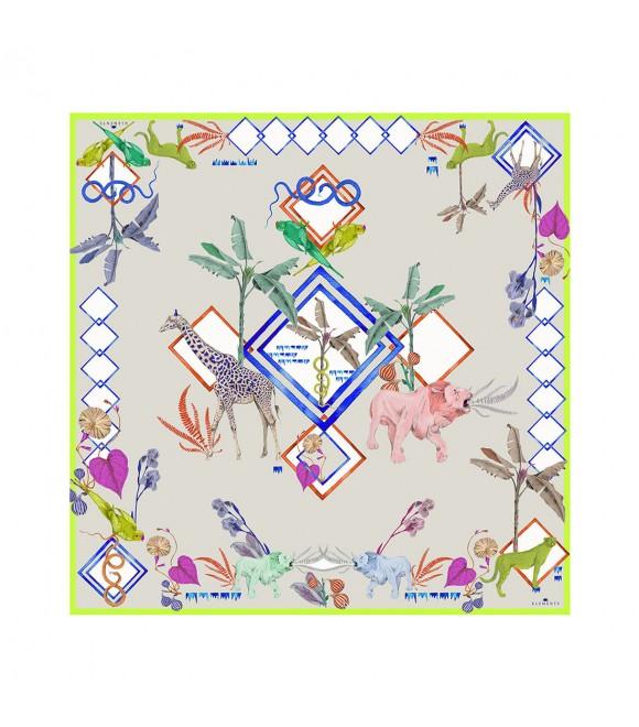 Платок Klements «Блокнот джунглей», 90x90, шелк