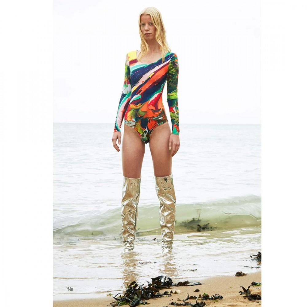 Боди Klements 'Margate' с принтом «Магма»  - Фото 2