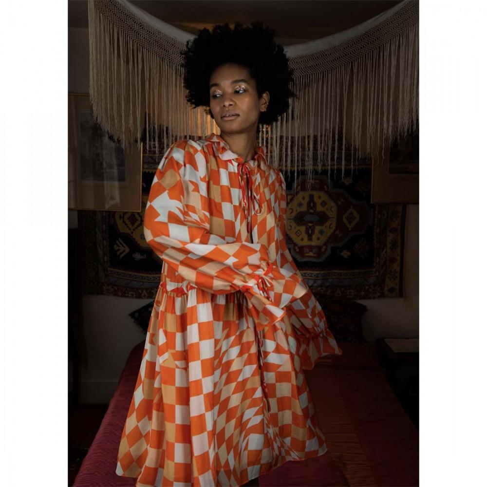 Платье Klements 'Maudie' с узором «Лабиринт» - Фото 2