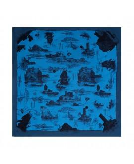 Платок Klements «Обреченый рейс. Океан», 90 x 90, шелк