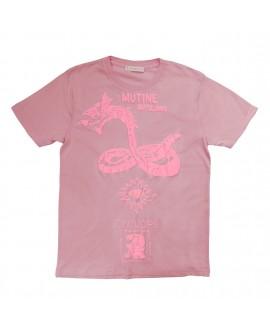 Футболка Klements 'Mutine Rattlesnake' розовая