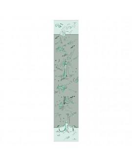 Шарф Klements «Старый Нептун», 218x44, шелк