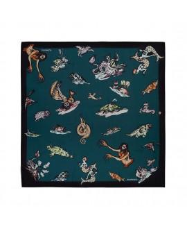 Платок Klements «Чудище морское», 90 x 90, шелк