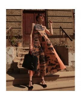 Платье Klements «Патти» с принтом «Обречённый рейс»