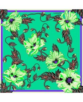Платок Klements «Отравленный мак», 135 x 135, шелк