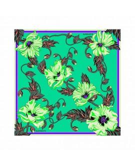 Платок Klements «Отравленный мак», 90 x 90, шелк