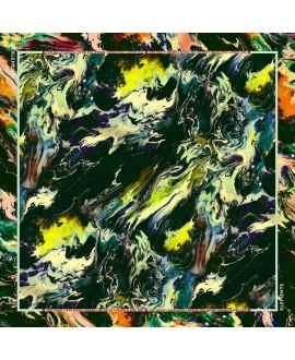 Платок Klements 'Psychriver', 135x135, шелк