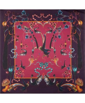 Платок Klements «Радужная форель», 140х140, кашемир