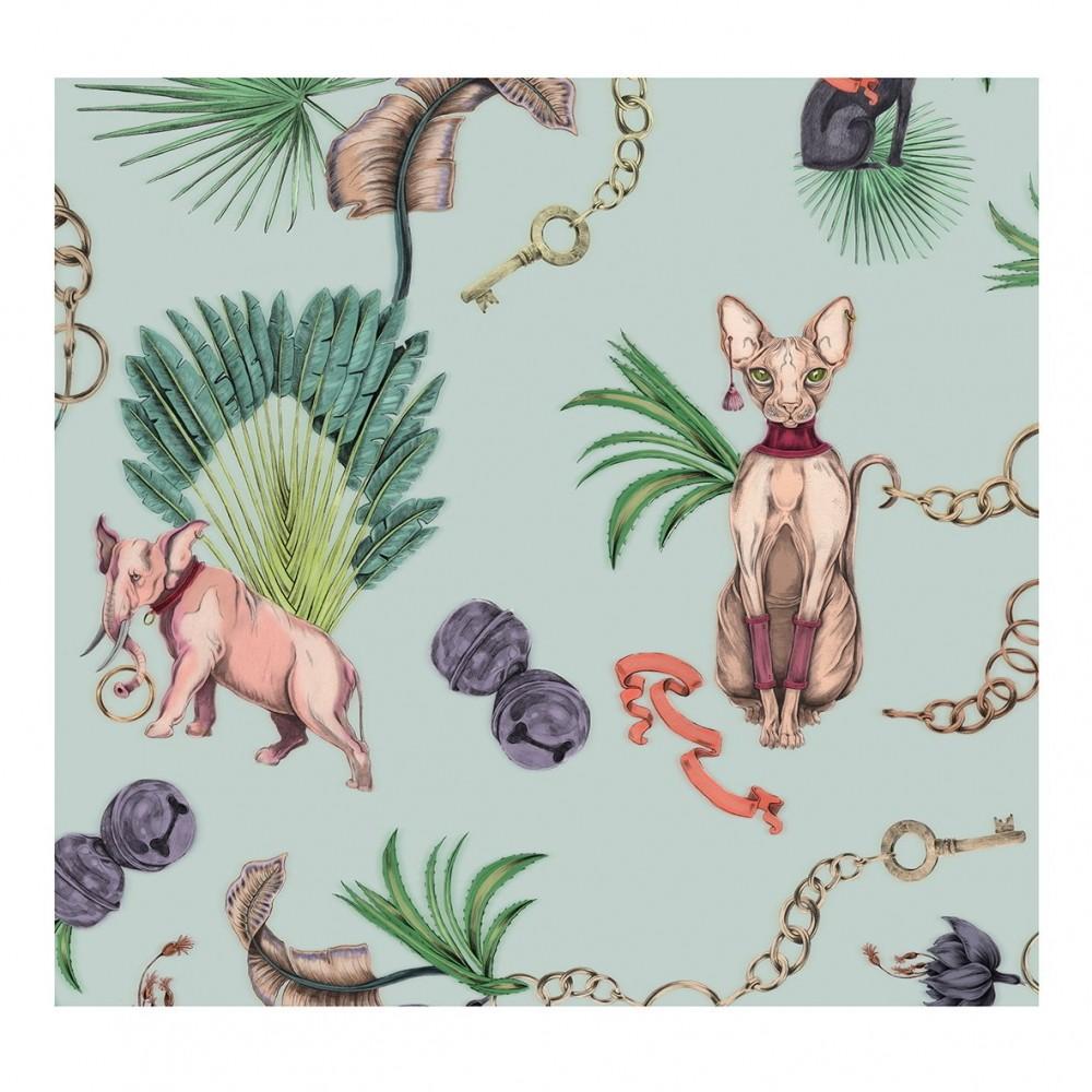 Платок Klements «Сфинкс», 140x140, шелк и хлопок