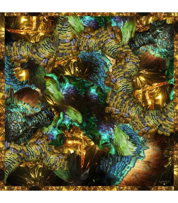 Платок Klements 'Trash', 140x140, шелк