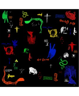 Платок Klements «Болото вуду», шелк и хлопок