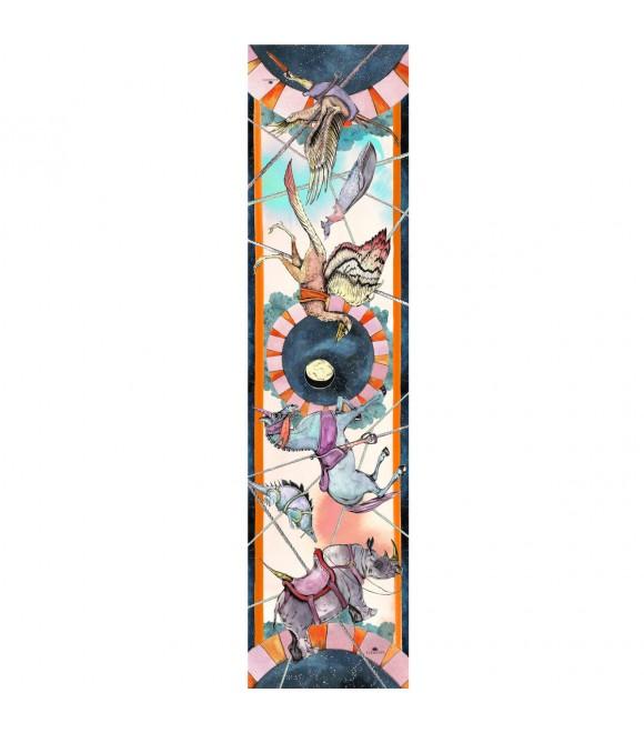 Шарф Klements «Карусель воинов», 200 x 50, кашемир