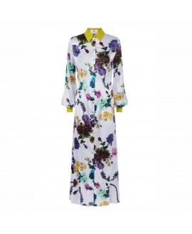 Платье Klements «Варшава» в расцветке «Готические цветы, сирень»