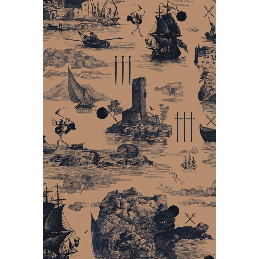 Платок Klements «Обречённый рейс», 140x140, шелковый шифон
