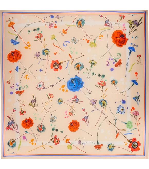 Платок Klements «Цветочный взрыв», 140x140, кашемир
