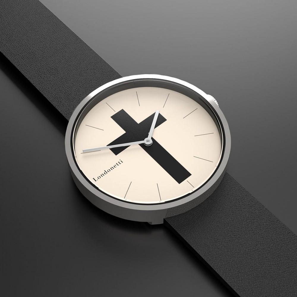 Наручные часы Londonetti Crucifix с черным крестом мини - Фото 2