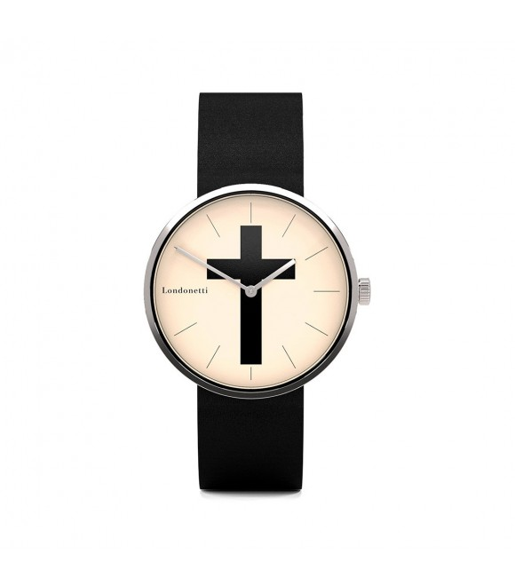 Наручные часы Londonetti Crucifix с черным крестом мини