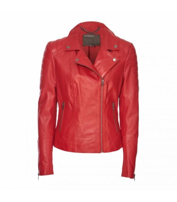 Кожаная куртка Muubaa 'Mula' красная