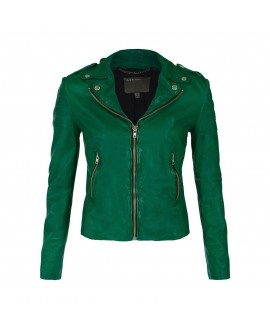 Кожаная куртка Muubaa 'Presley' зеленая