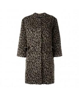 Пальто Peter Jensen леопардовое