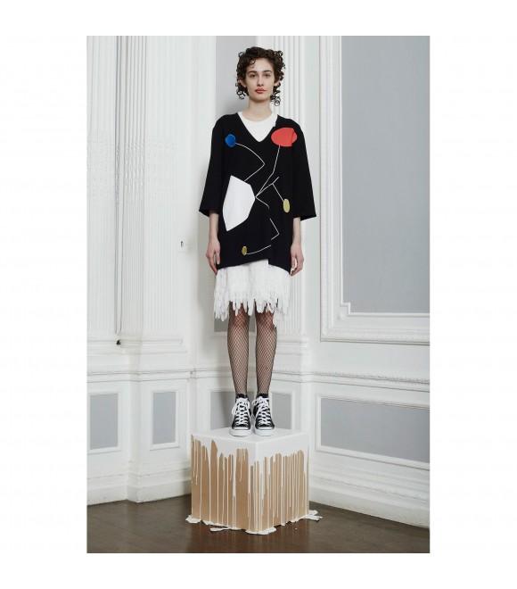 Платье-топ Peter Jensen с V-вырезом черное