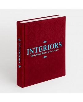 """Книга Phaidon """"Интерьеры"""" в бордовой обложке"""