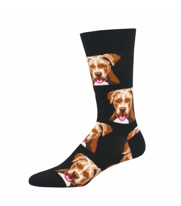 Мужские носки Socksmith «Питбуль» чёрные